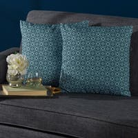 German Print Fabric Pillow (Set of 2) by Christopher Knight Home