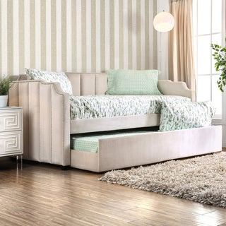 Furniture of America Lorelei Transitional Glam Twin-size Upholstered Daybed