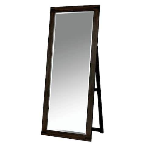 Furniture of America Namp Rustic Brown 72 inch Standing Mirror