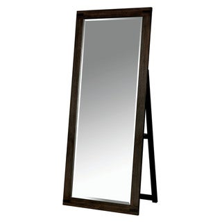 Furniture of America Namp Rustic Brown 72-inch Standing Mirror - Antique Brown - A
