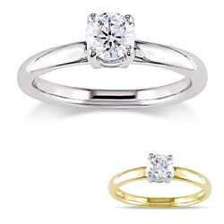 Miadora Signature Collection 14k Gold 1/2ct TDW Certified Diamond Solitaire Engagement Ring