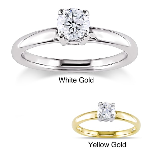 Miadora Signature Collection 14k Gold 1/2ct TDW Certified Diamond Solitaire Engagement Ring (G-H, I1-I2)