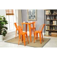 Porthos Home Rust-Resistant Metal Barstool with Back (Set of 2)