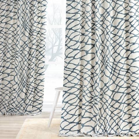 Exclusive Fabrics Ellis Printed Cotton Twill Curtain (1 Panel)