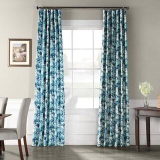 Exclusive Fabrics Watercolor Printed Faux Silk Taffeta Blackout Curtain