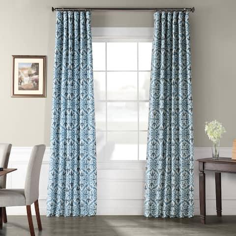 Exclusive Fabrics Iron Gate Printed Faux Silk Taffeta Blackout Curtain
