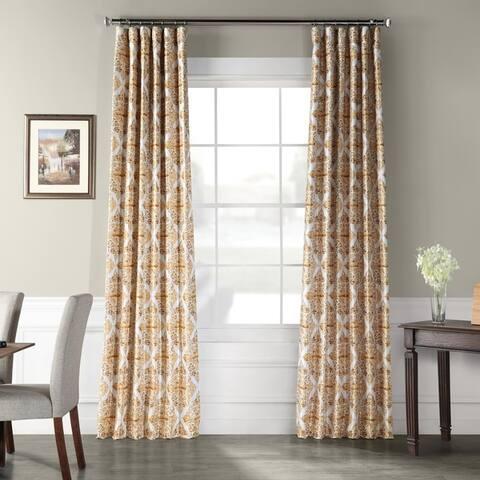 Exclusive Fabrics Tiera Printed Faux Silk Taffeta Blackout Curtain