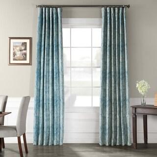 Exclusive Fabrics Wilton Printed Faux Silk Taffeta Blackout Curtain