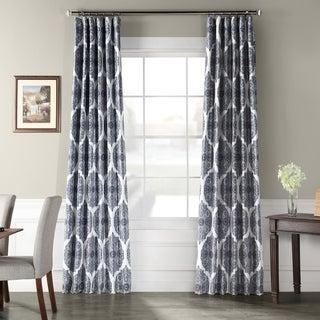 Exclusive Fabrics Royal Printed Faux Silk Taffeta Blackout Curtain