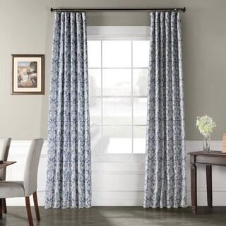 Exclusive Fabrics Rococo Printed Faux Silk Taffeta Blackout Curtain