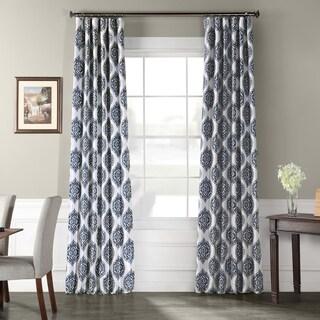 Exclusive Fabrics Donegal Printed Faux Silk Taffeta Blackout Curtain