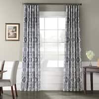 Exclusive Fabrics Delft Printed Faux Silk Taffeta Blackout Curtain