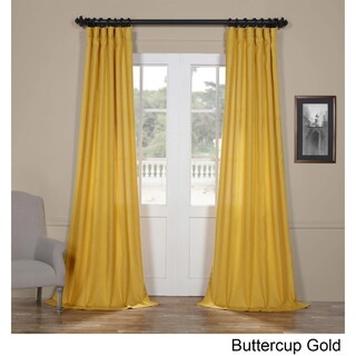 Exclusive Fabrics Faux Linen Semi Sheer Curtain (3 options available)