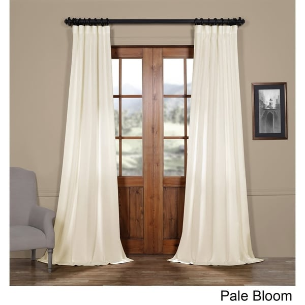 Shop Exclusive Fabrics Faux Linen Semi Sheer Curtain