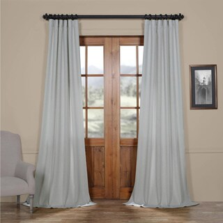 Exclusive Fabrics Faux Linen Semi Sheer Curtain (2 options available)