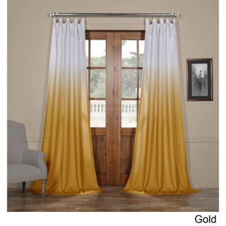 Exclusive Fabrics Ombre Faux Linen Semi Sheer Curtain (3 options available)