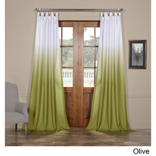 Exclusive Fabrics Ombre Faux Linen Semi Sheer Curtain (More options available)