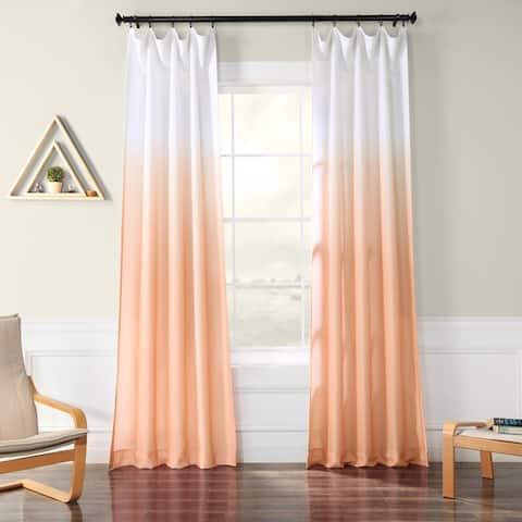Exclusive Fabrics Ombre Faux Linen Semi Sheer Curtain