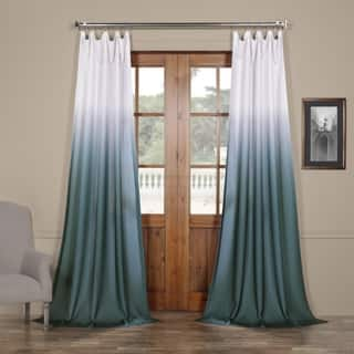 Exclusive Fabrics Ombre Faux Linen Semi Sheer Curtain More Options Available