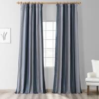 Exclusive Fabrics Wimpole Faux Silk Stripe Curtain