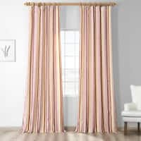 Exclusive Fabrics Milton Luxury Faux Silk Stripe Curtain
