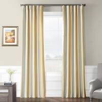 Exclusive Fabrics Walcot Faux Silk Stripe Curtain
