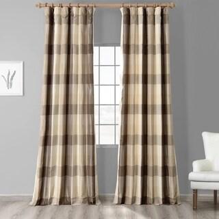 Exclusive Fabrics Sutton Faux Silk Plaid Curtain