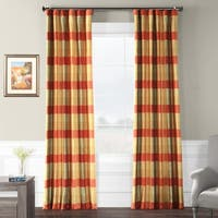 Exclusive Fabrics Manor Faux Silk Plaid Curtain