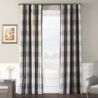 Exclusive Fabrics Essex Faux Silk Plaid Curtain