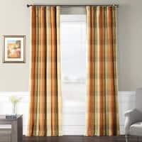 Exclusive Fabrics Cumbria Faux Silk Plaid Curtain