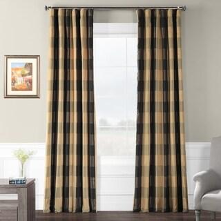 Exclusive Fabrics Suffolk Faux Silk Plaid Curtain