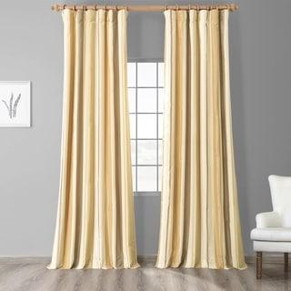 Exclusive Fabrics Norfolk Luxury Faux Silk Stripe Curtain