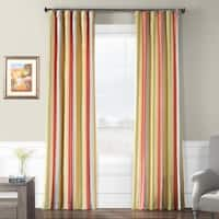 Exclusive Fabrics Hapsford Luxury Faux Silk Stripe Curtain