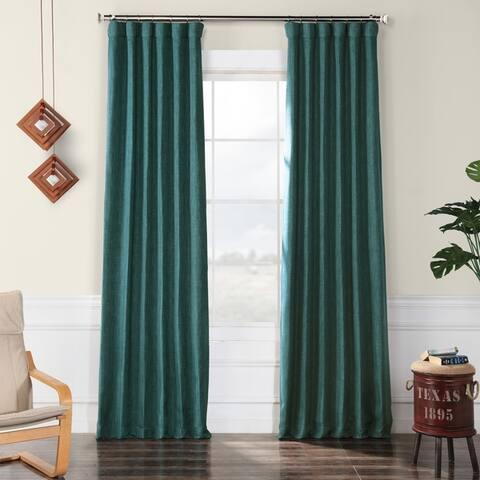 Exclusive Fabrics Faux Linen Blackout Curtain