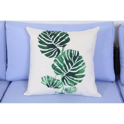 BroyerK 17.7 Inch Outdoor Patio Toss Throw Pillow (set of 2) Leaf
