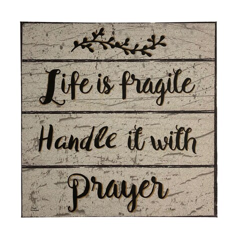 Handle Life With Prayer 14X14 Canvas Art