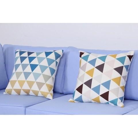 BroyerK 17.7 Inch Outdoor Patio Toss Throw Pillow (set of 2) Geometric