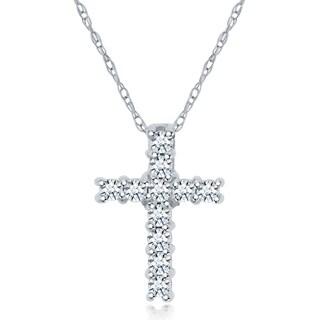 14k .12ct Diamond Cross