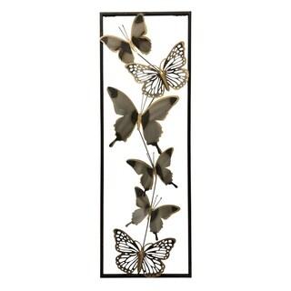"""Butterflies 35"""" Metal 3D Wall Art"""
