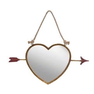 Transpac Metal Heart Hanging Mirror 17-Inch