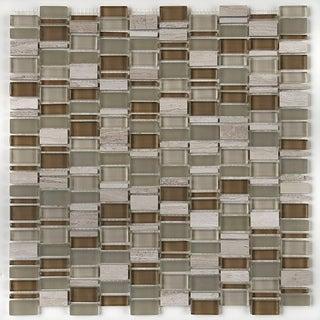 Clio Mosaics 1 X Random Mosaic Glass and Stone Tile in Hera - 12x12