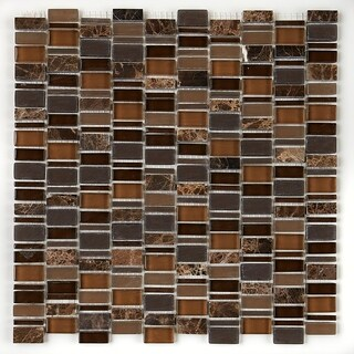 Clio Mosaics 1 X Random Mosaic Glass and Stone Tile in Eos - 12x12