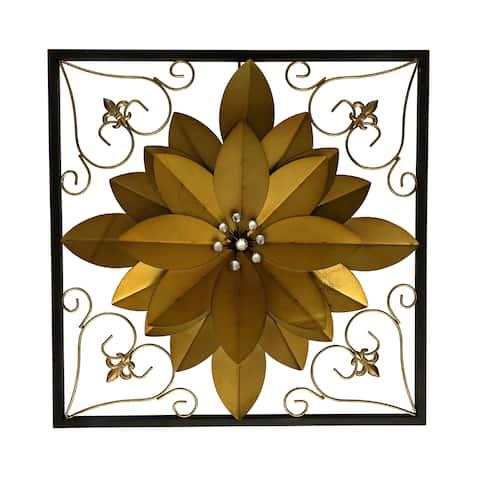 """Flower 18"""" Metal 3D Wall Art"""
