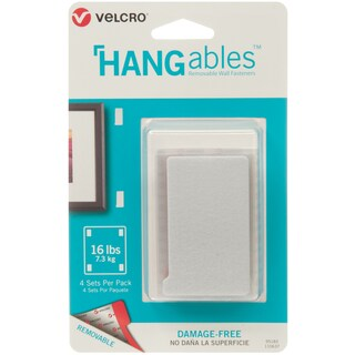 "Velcro(R) Brand HANGables Removable Wall Fasteners 3""X1.75"""