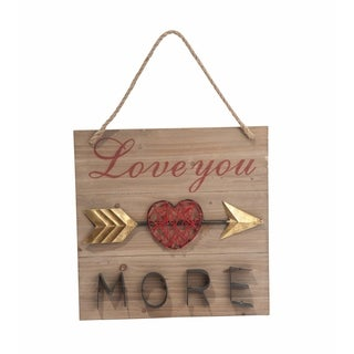 Transpac Wood and Metal Love Wall Décor 15.75-Inch H