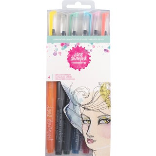 Jane Davenport Mixed Media 2 Mermaid Markers 6/Pkg