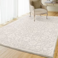 Maison Rouge Joaquin Floral Natural Ivory Flatweave Outdoor Area Rug - 9' x 13'