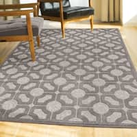 Oliver & James Appel Geometric Grey FlatWeave Area Rug - 7'9 x 10'10