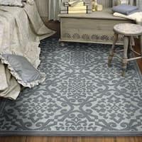 Maison Rouge Cohen Grey/ Blue Flat-woven Area Rug - 9' x 13'