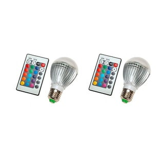 LED Color Changing Light Bulb with Remote Control (3 options available)